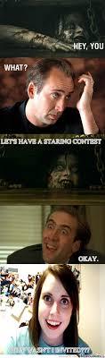 Evil Dead Meme - rmx nicholas cage and evil dead by bazooka meme center