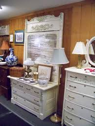 Shabby Chic Secretary Desk by Shabby Chic Dresser Set With Matching Head Board Carriage House
