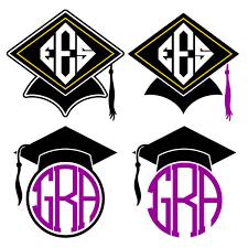 monogram graduation cap graduation cap monogram svg cuttabe frames