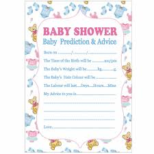 advice for cards fengrise 10pcs baby shower new prediction advice cards x