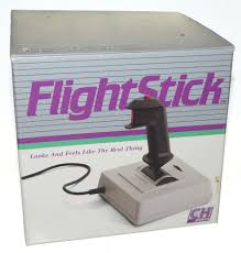vintage ch products flight stick joystick in box w manual ibm pc