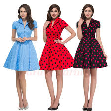 women s dresses womens 50s dress summer style retro pinup vintage 1960s