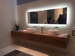 floating bathroom vanity large and long mirror with light stylish