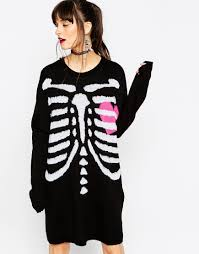 Skeleton Halloween Dress by Asos Halloween Skeleton Knit Jumper Dress Purrin Pinterest
