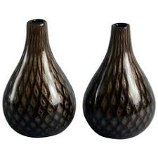 Italian Glass Vases Italian Black Glass Vase For Sale At 1stdibs