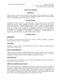 Sample Resume Objectives For Manufacturing by Forklift Resume 17 Forklift Resume Samples Samples For Teacher Job