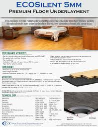 Laminate Flooring Soundproof Underlay Underlayment For Floor Soundproofing Impact Noise Reduction