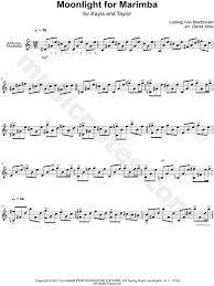 free printable sheet music for xylophone ludwig van beethoven moonlight for marimba moonlight sonata first