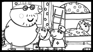 peppa pig doctor kids fun art friends coloring pages drawing