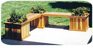 Planter Bench Seat Build Wooden Deck Benches Interior Home Design Home Decorating