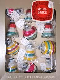 shiny brite ornaments the glass