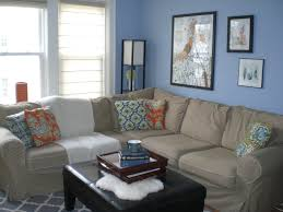 Blue Floor L Living Room Living Room Blue Theme Decoration L Shaped Fabric