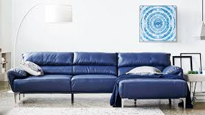 Blue Leather Sofa by Furniture Home Kmbd 19 Furniture Modest Best Best Blue Leather