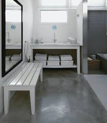 flooring ideas for small bathroom using concrete bathroom floor and change the look of your bathroom
