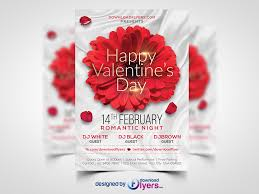 valentines day flyer template free psd download free graphics