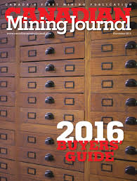 canadian mining journal november 2015 by the northern miner group