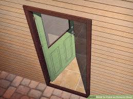 How To Paint An Exterior Door How To Paint An Exterior Door With Pictures Wikihow