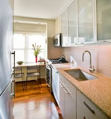 fresh idea design your best ideas about small kitchen minimalist galley kitchen design small white color themed breakfast bar ideas brown furnished wooden flooring