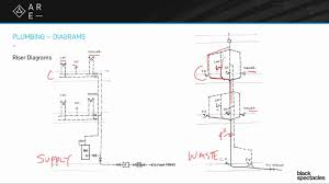 Floor Plan With Plumbing Layout by Riser Diagrams Building Systems Youtube