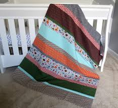 popular items for baby boy quilt on etsy forest themed fox