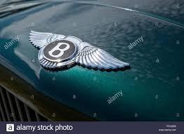 bentley metallic the iconic bentley emblem on the hood of a metallic green mulsanne