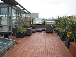 terrace design on the rooftop home in the night with effect light