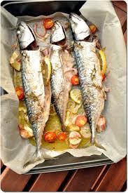 cuisiner le maquereau frais maquereaux au four et légumes grillés chez bergeou