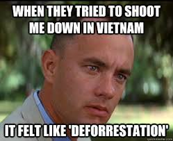 when they tried to shoot me down in vietnam it felt like