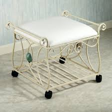 Upholstered Vanity Chairs For Bathroom by Laundry Room Storage Cabinets Vanity Stool Upholstered Bench Ideas