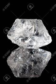 semi precious gemstone rock or clear quartz stock photo