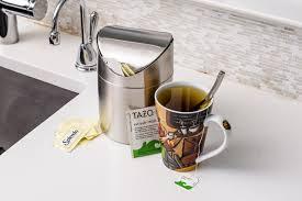kitchen countertop trash can thin trash can countertop trash can