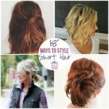 cute hairstyles for short hair quick easy styles for short hair