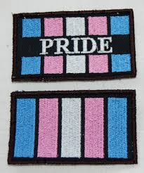 Dominican Republic Flag Patch Transgender Trans Pride Flag Embroidered Patch
