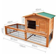 Pet Hutch Double Storey Pet Hutch With Under Run Green Does Not Apply