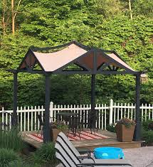 Garden Treasures Canopy Replacement by Lowes Garden Treasures 10 X 10 Pergola Replacement Canopy Gf