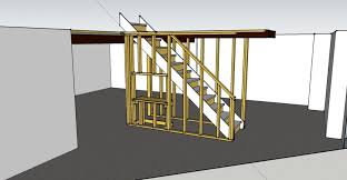 basement framing around stairs carpentry diy chatroom home