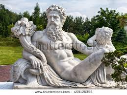 marble statue greek god zeus cornucopia stock photo 459127336