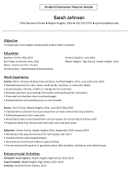 Summer Job Resume by Resume Examples Many Jobs Cover Letter For First Summer Job