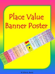place value poster banner by bovio math creations tpt