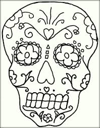 mexican sugar skull coloring pages for adults color zini