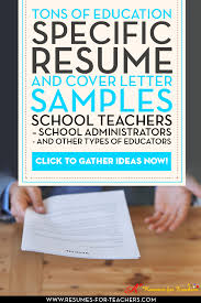 Resumes For Teachers Examples by Resume Fcps Special Education Housekeeper Resume Samples
