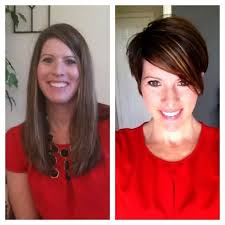 before and after picuters of long to short hair long hair to short hair before and after images before and after