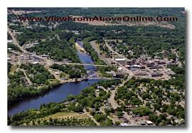 Wisconsin Rivers images Black river falls wisconsin aerial photography jpg