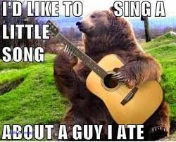 Bear Stuff Meme - bear playing guitar funny meme