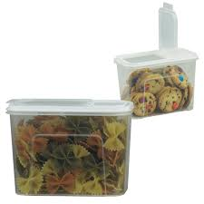 stor all 2 pack plastic food storage dispenser container 7 5 cup