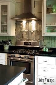 vintage kitchen backsplash living vintage kitchen reveal backsplash made from salvaged roof