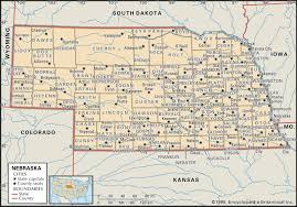 Colorado County Map by State And County Maps Of Nebraska