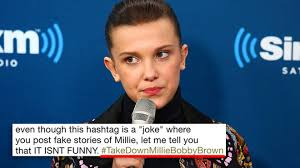 Disgusting Monday Memes - takedownmilliebobbybrown is trending on twitter and it s actually
