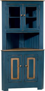 large corner cabinet with glass