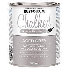 chalked ultra matte paint aged grey rona